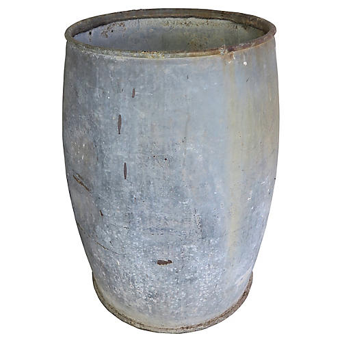 French Country Garden Barrel/Planter