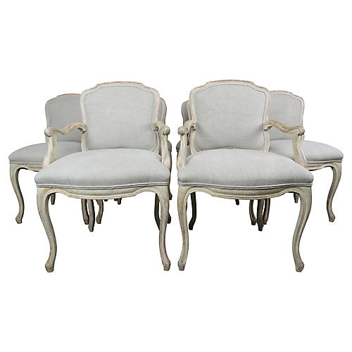French Louis XV Style Dining Chairs-S10