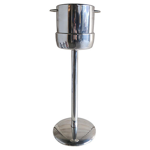Silver-Plate Champagne Bucket on Stand