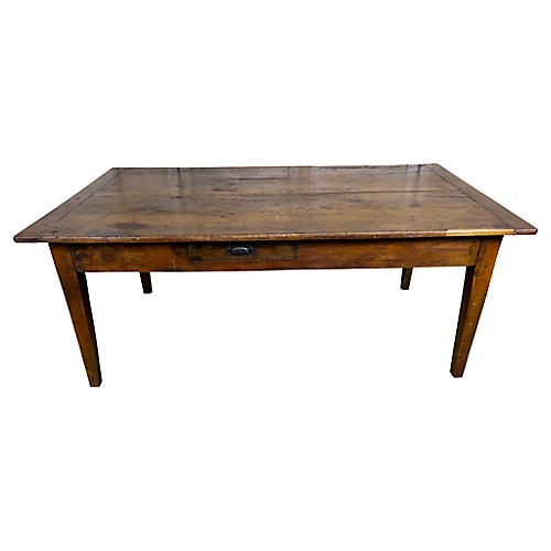 18th C. Cherry Tea Table w/ Drawer