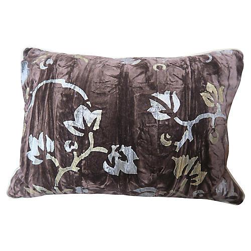 NOMI Velvet Stenciled Pillows, Pair