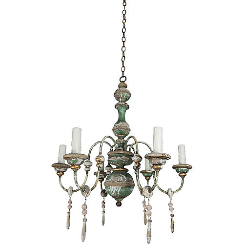 Italian 6-Light Painted Chandelier