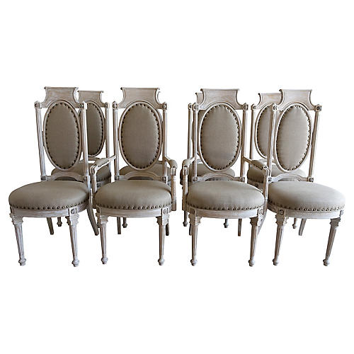 Neoclassical Style Dining Chairs, S8