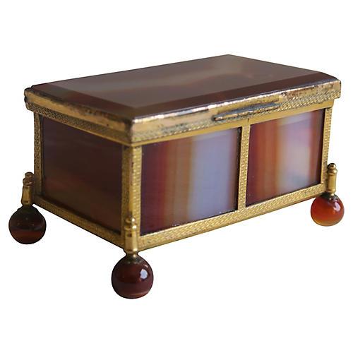 Onyx & Brass Vanity Box