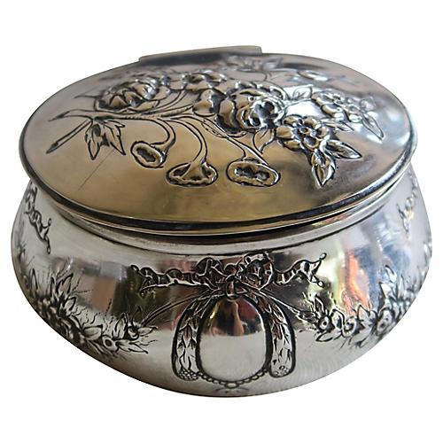 Silver Repousse Trinket Box