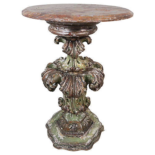 19th Italian Acanthus Leaf Painted Table