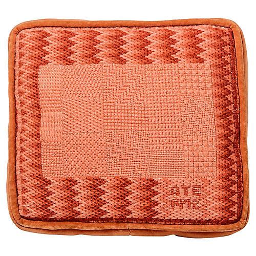 Flame-Stitch Needlepoint Pillow