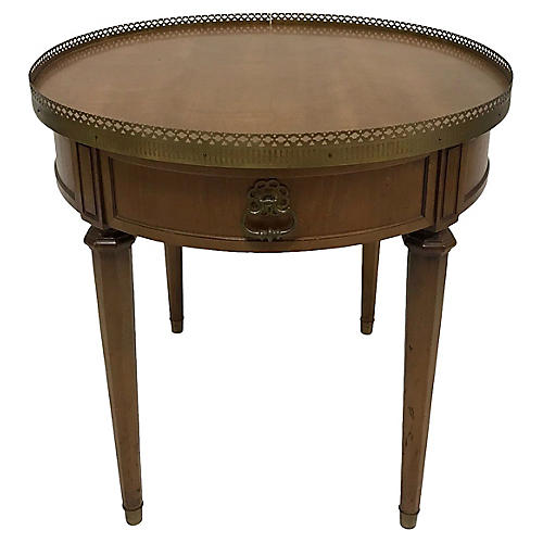 French-Style Round Side Table