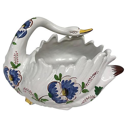 Floral Swan Centerpiece