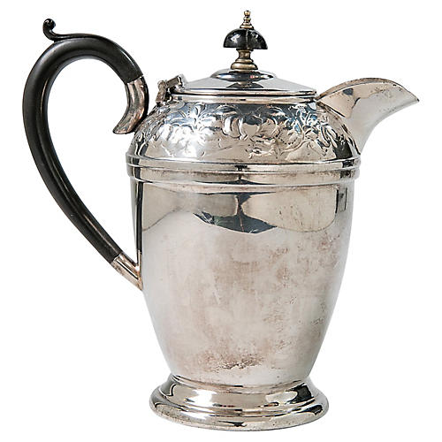 English Silver-Plate Coffeepot