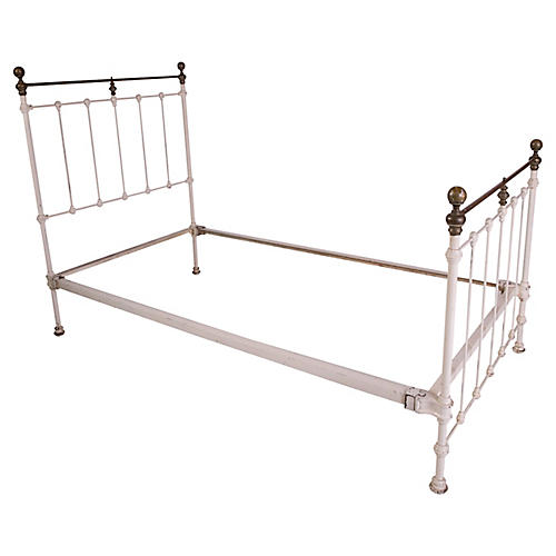 White Iron Bed, Twin