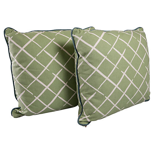 Trellis Pillows, Pair