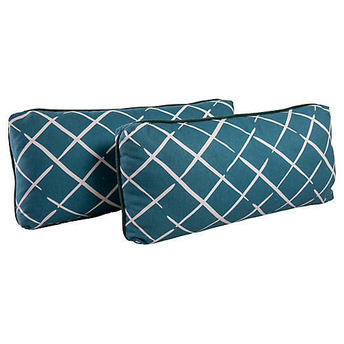 Lattice Lumbar Pillows, Pair