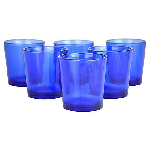 Cobalt DOF Glasses, S/6