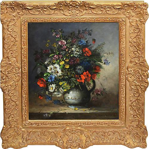 French Flower Still Life, Henri Cauchois