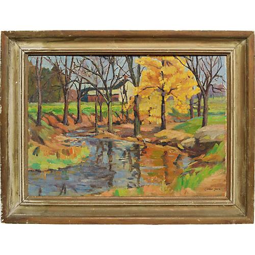Fall River Landscape by Gladys Jack