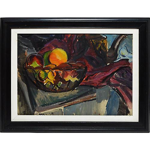 Modernist Fruit Still Life by Ben Benn
