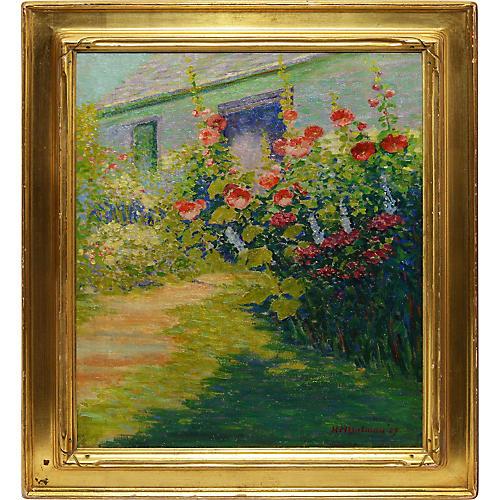 Wild Flower Landscape Painting