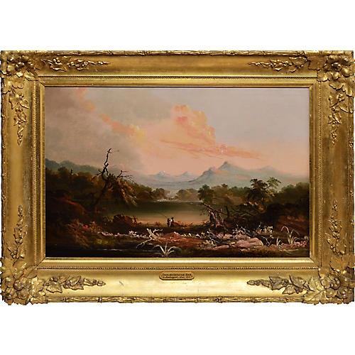 Hudson River School Landscape, C. 1840