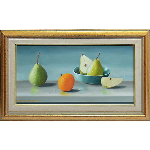 Realist Fruit Still Life w/ Pears