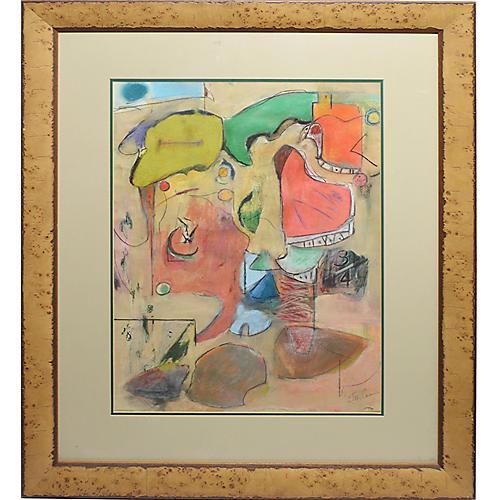 Mid-Century Modern Cubist Composition