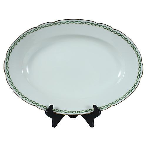 French Limoges Oval Serving Bowl