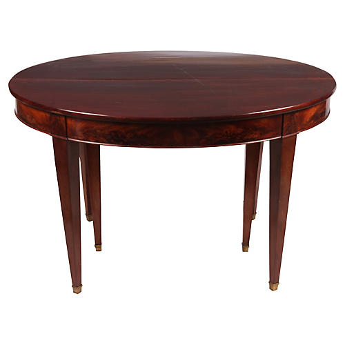 Directoire-Style Round Dining Table