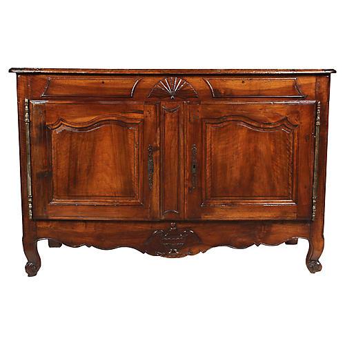 Antique Louis XVI-Style Walnut Credenza