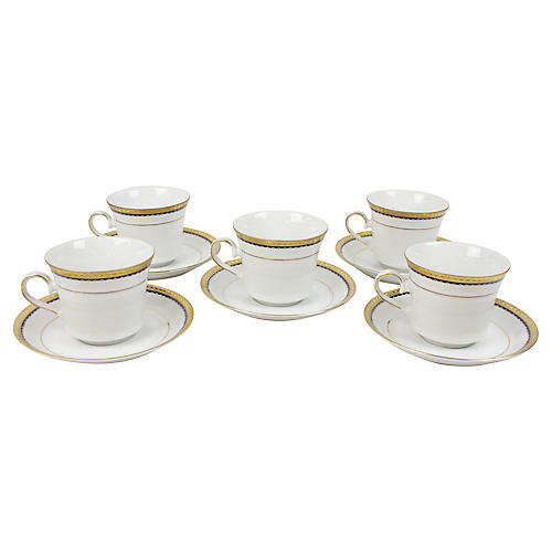 Winterling Bavaria Teacups, S/5