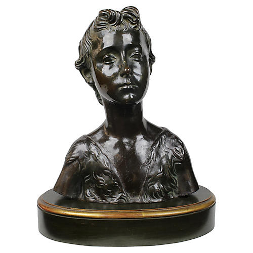 1940s Terracotta Bust of a Female