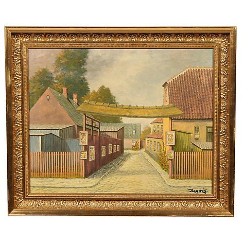Rodekro Demark Oil Painting
