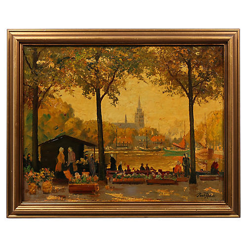 19th-C. Painting, Summer In The Park