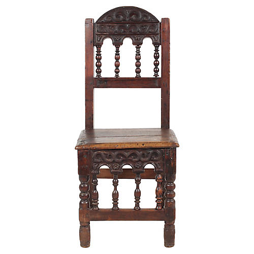 18th Century Spanish Spindle Chair