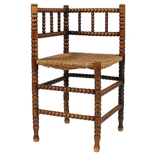 English Barley Twist Corner Chair