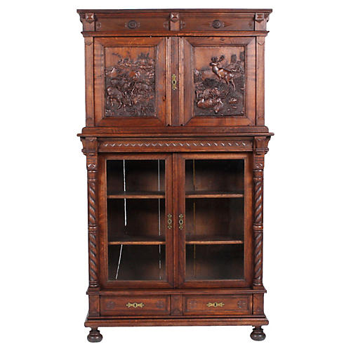 19th-Century Black Forest German Cabinet