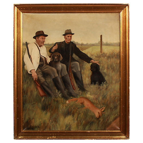 Fox Hunters by C. Frolich, 1957