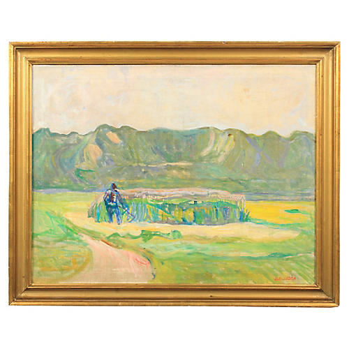Vedel Egebæk Expressionist Harvest Scene