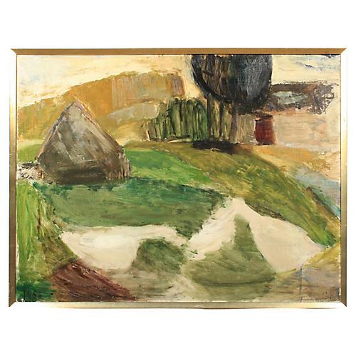 1958 Gudrun Poulsen Abstract Landscape