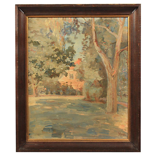 Impressionist View of Country Home, 1932