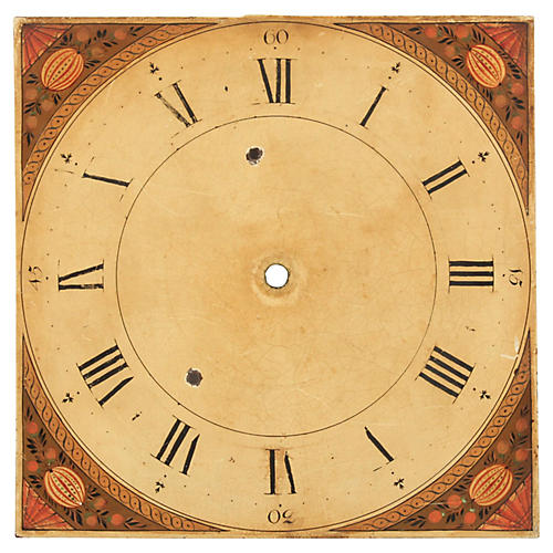 19th C. Hand-Painted Dutch Clock Face
