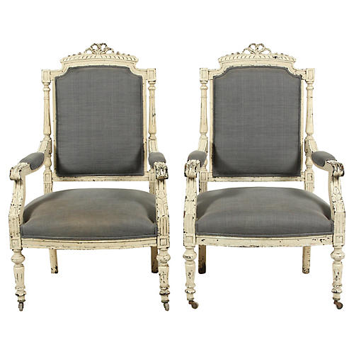 19th-C. French Louis XVI-Style Chairs