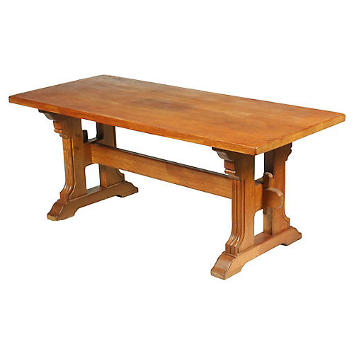 French Farmhouse Trestle Dining Table