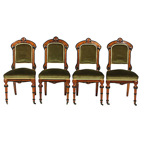 Four Renaissance Revival Parlor Chairs