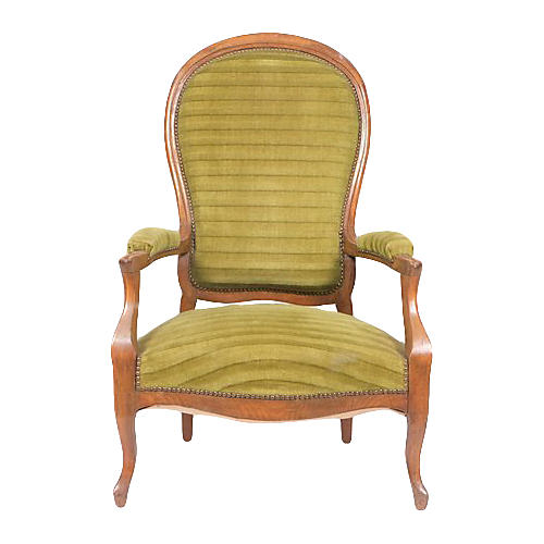 1890's French Rococo-Style Armchair