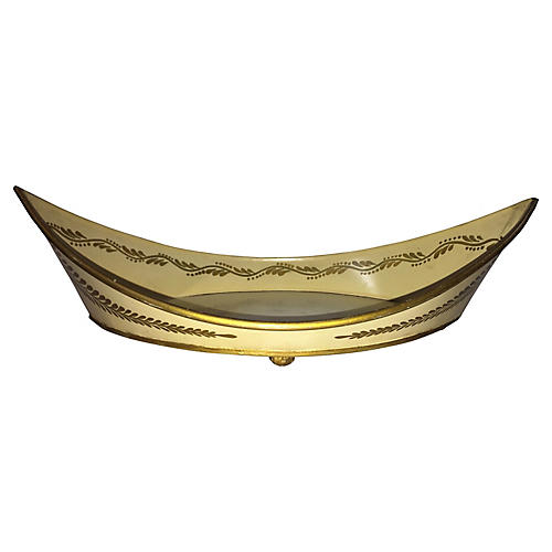 French Neoclassical Tole Tray, C.1950