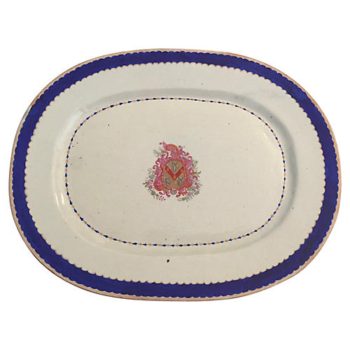 Decorative Ironstone Armorial Platter