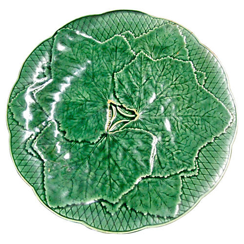 Gien Grapevine Leaf Wall Plate