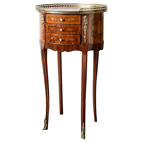 Antique French Gallery Side Table