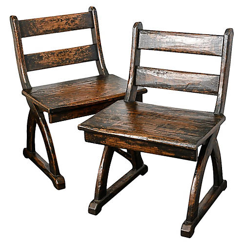 Park Chairs by Charles Pollock, Pair