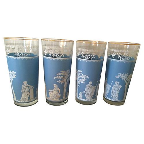 Grecian Iced Tea Glasses, S/4